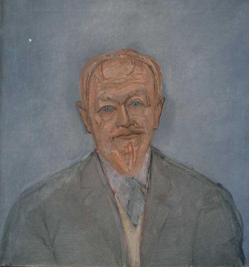 Alberto Giacometti.El padre del artista 1932.Óleo sobre lienzo 64x60cm. Kunsthaus Zürich. Sus figuras emergen de un magma de líneas y trazos, es la demostración de su dificultad en ejecutar un retrato.