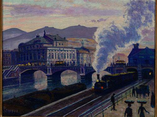 El puente del Arenal,1910.Óleo sobre lienzo.50x61cm.Colección particular