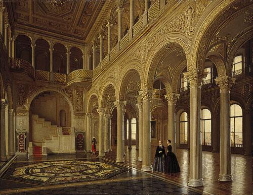 Piotr V. Tutukin, Sala del Pabellón en el Pequeño Hermitage. Una de las más solemnes y mejor creación de Schtakenschneider.. Obtuvo gracias a esta obra el título de académico.
