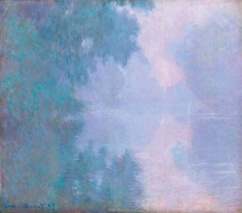 Claude Monet.Mañana en el Sena,Giverny 1897.Óleo sobre lienzo,81x92cm.Mead Art Museum,Amshert College,Massachusetts.