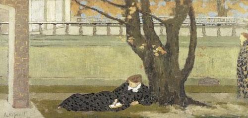Xavier Roussel-La Terrase,1892 (La explanada).37x75cm