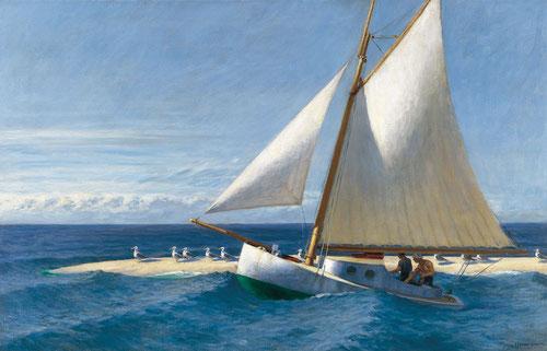 """E Hopper """"Martha Mckeen """" de  Wellfleet, 1944.Óleo sobre lienzo.81x127cm.Colección Carmen Thyssen."""