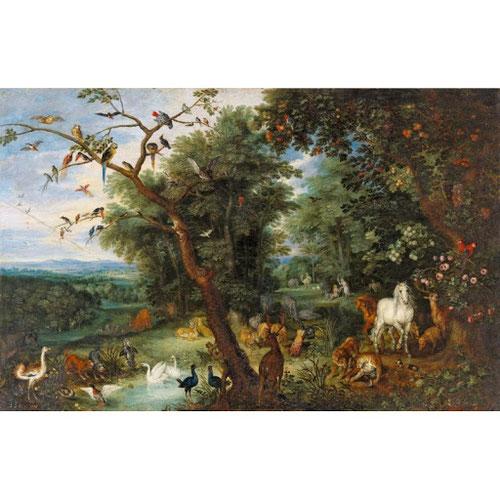 Jan Brueghel el Joven.El paraíso terrenal.1620-25.Óleo sobre cobre,35x50cm.Colección privada.