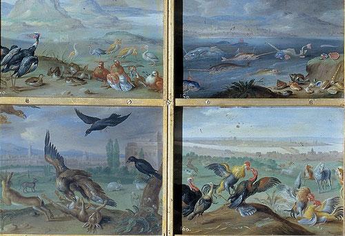 Jan van Kessel,el viejo.Las 4 partes del mundo,Asia.1600-Óleos sobre láminas de cobre de 17x12cm..asombroso!