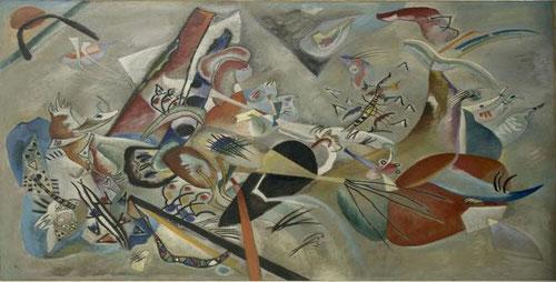 Im Grau 1919.(En el gris)Óleo sobre lienzo.129x176cm.Legado de Nina Kandinsky.