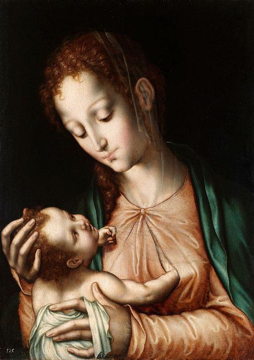 La Virgen de la leche,1565,Óleo sobre tabla de nogal,57x40cm.Museo Nacional del Prado.