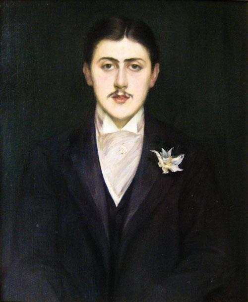 JACQUES ÉMILE BLANCHE. Retrato de Marcel Proust 1892. Óleo sobre lienzo,73x60cm.Musée d´Orsay, Paris.