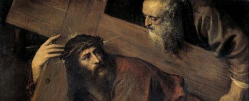 Tiziano, Jesus con la cruz a cuestas.
