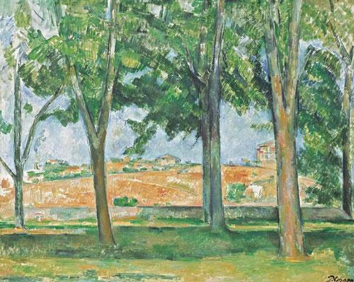 Los castaños del Jas de Bouffan, fue el mirador desde el cual pintar el paisaje, su microcosmos,pais en miniatura...