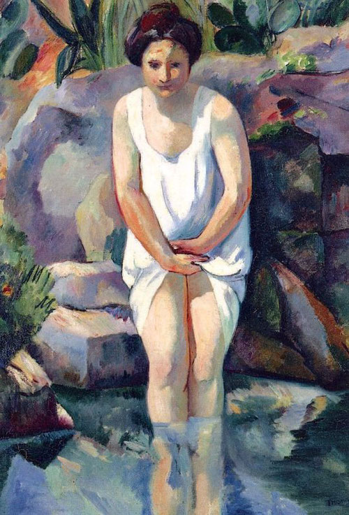 Henri Manguin.Cassis, El Baño 1912.Óleo sobre lienzo 73x60cm.Musée des Beaux Arts, Nancy.