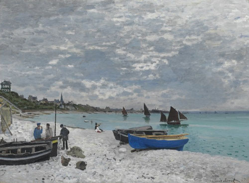 Claude Monet.La playa de Saint Adresse 1867.Óleo sobre lienzo.75x102cm.The Art Institute of Chicago.