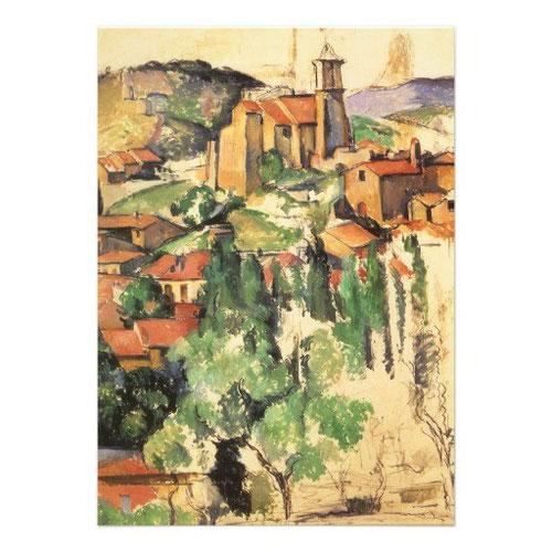 El pueblo de Gardanne,1886.Óleo y barra conté sobre lienzo.91x73cm.The Brooklyn Museum. Cézanne pintó tres óleos de Gardanne con un panorama de 180 grados del pueblo, la Iglesia se eleva sobre el horizonte.