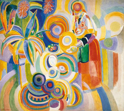 Robert DeDelaunay.Portuguesa 1916. Donde la simultaneidad de la mirada y el interés por las leyes y posibilidades del color, llena de contrastes sus lienzos, creando un vocabulario personal.