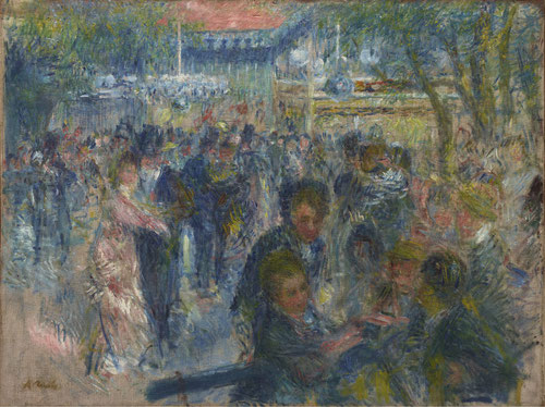 Le Moulin de la Galette,estudio.1875.Óleo sobre lienzo.65x85cm.Copenhague.