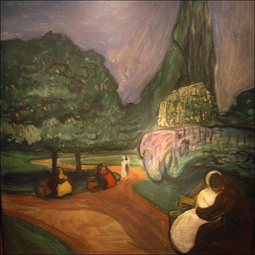 Noche de verano en Studenterlunden. Óleo sobre lienzo.101x91cm.Colección Perez Simon.Méjico.