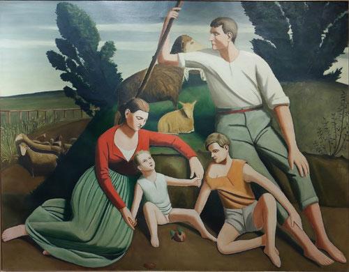 Ghisberto Cerracini,el reposo 1930 Museo de Arte contemporáneo di Trento.