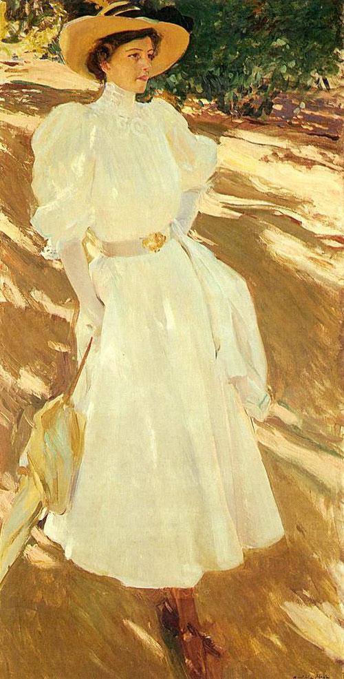 Sorolla.María en La Granja,1907.Óleo sobre lienzo.170x85cm.San Diego Museum of Art.Donación de Archer Huntington.
