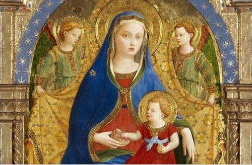 Todo un código figurativo en la alegoría de la granada, en el mundo clásico atributo de Proserpina, que el cristianismo  lo adopta como símbolo de la Resurrección(Niño) o de la castidad en manos de la Viergen.