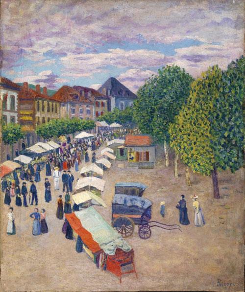 Mercado de Dax,1909.Óleo sobre lienzo,61x50cm.Colección particular.