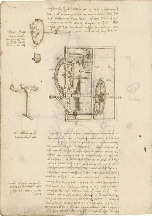 Leonardo da Vinci, conocido por sus dibujos preparatorios, son fiel reflejo de la OBSERVACIÓN-EXPERIMENTACIÓN. NACE EL INTERÉS EMPÍRICO POR LA REALIDAD. Como el dispositivo de relojes, constituye unidad científica e intelectual.