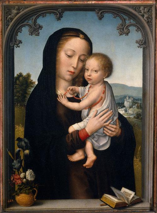 Gerard David,Virgen con Niño.1520.Óleo sobre tabla. 45x34cm. Museo Nacional del Prado. Madrid