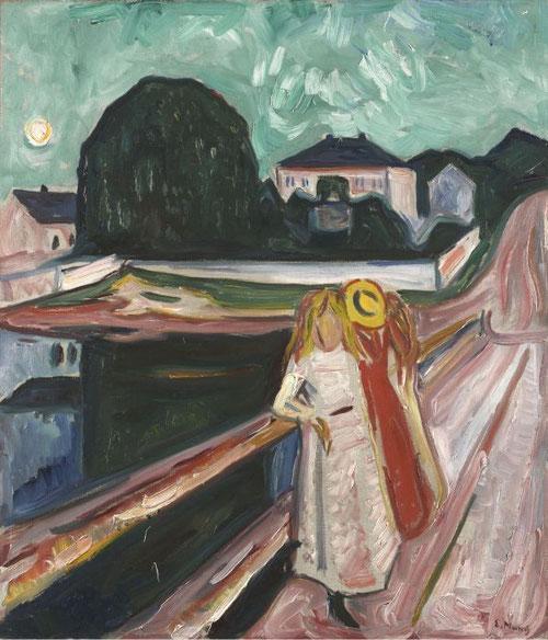Las niñas en el puente.1904,1933?.öleo sobre lienzo,80x69cm.Art Museum Texas.
