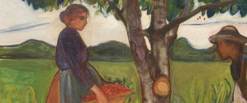 Frente al árbol de la vida, y ataviados con ropas campesinas, aceptan con gestos sobrios y medidos, un lejano eco de la visión moderna de Adán y Eva, frente al árbol del Paraiso...la curva de su vientre brinda una vida nueva..tal vez la tuya..Enero 2013!