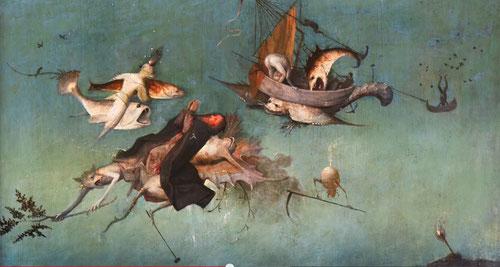 San Antonio Abad llevado por uno de los demonios,tentando su mente y burlándose cruelmente,sin infligir al santo daño alguno,solo lo hace de manera ilusoria, de manera efectiva,como solo una bruja puede hacerlo(el Malleus)