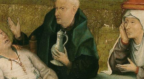 Detalle del Bosco.Extracción de la piedra de la locura.Hacia 1510.