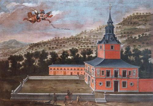 Escuela madrileña.Torre de la Parada construido en 1547-66 por Juan Gómez de Mora y B.Crescenci.Rubens y Velázquez trabajaron en su decoración,pabellón de caza de Felipe II, hoy desaparecido.