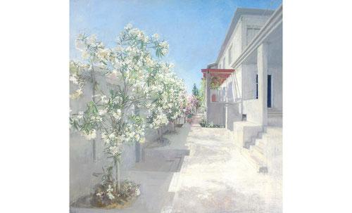 Jerdín Poniente de María Moreno.2003.140x147cm.Óleo sobre lienzo.Colección privada.