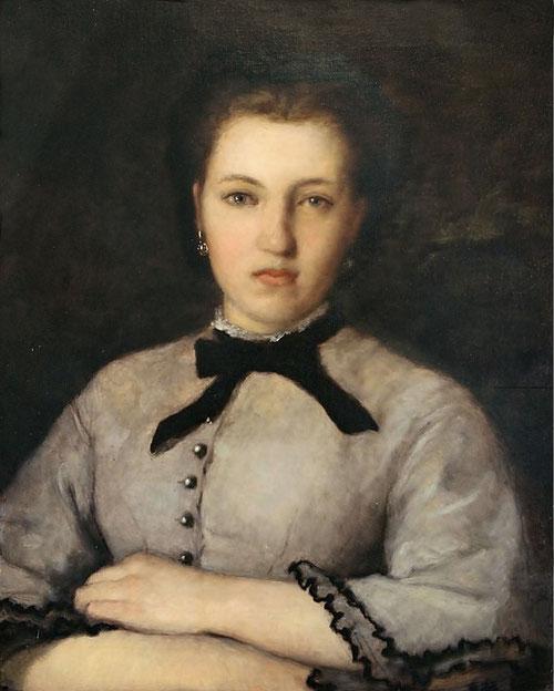 Retrato de Marie Zélie Laporte 1864.Óleo sobre lienzo.61x50cm. Adquirido con la ayuda de FRAM y de una suscripción pública.En los retratos prescinde del dibujo y del contraste tonal en favor de un puro tejido vibrante de toques de color.