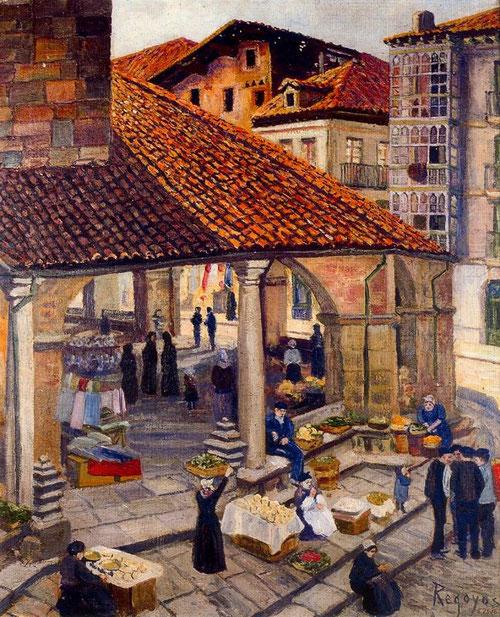 Mercado de Durango,1907.Óleo sobre lienzo.60x50cm.Colección particular.