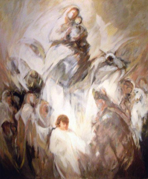 Ruizanglada.Jesús entre los maestros.196cmx160cm