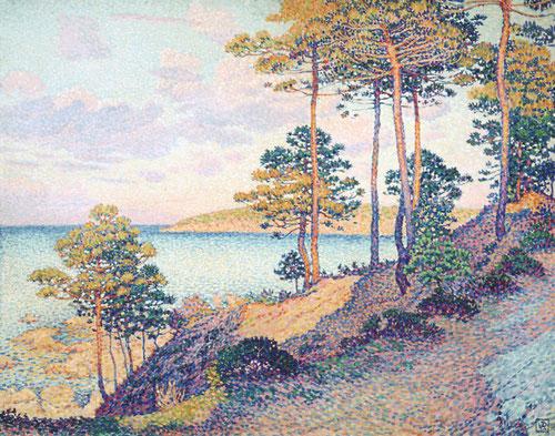 Theo van Rysselbergue.La punta de Saint Pierre en Saint Tropez 1896.Óleo sobre lienzo 78x98cm.Musée National d´Histoire et dÁrt Luxemburgo.