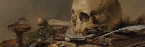 VANITAS se denominó con el nombre de Buena Muerte, y que traducida del latín viene a expresar «en vano». Se conoce su uso desde la Baja Edad Media, representada habitualmente mediante un esqueleto o sólo una calavera.