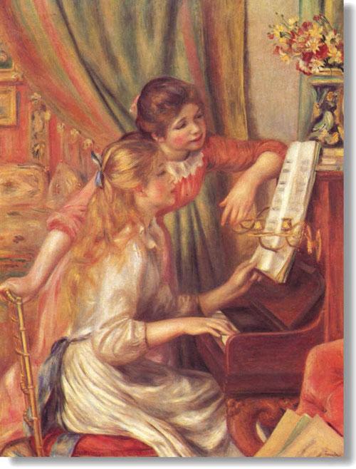 Auguste Renoir,Jeunes filles au piano.116x90cm.