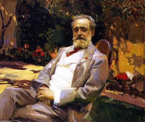 El pintor Raimundo de Madrazo,1906.Óleo sobre lienzo.97x114cm.The Hispanic Society of America, Nueva York.