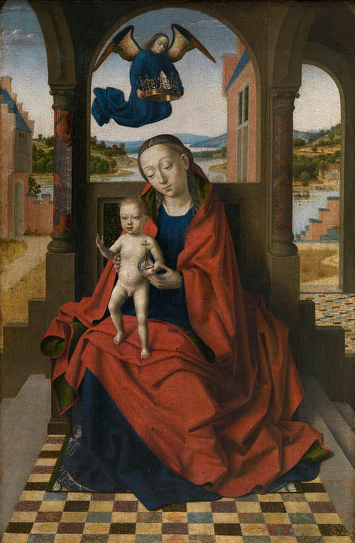 Petrus Christos.La Virgen con el Niño.1460-65.Óleo sobre tabla.49x34cm.Museo de la Trinidad.