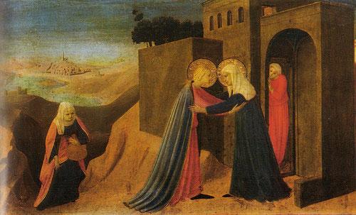 Fra Angelico,La Visitación 1430 Museo diocesano de Cortona.