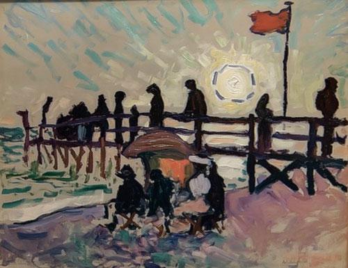 Albert Marquet.El malecón de Sainte Addresse,1906.Colección particulor. Marquet experimenta incansablemente con la atmósfera, el ambiente de la ciudad trepidante.