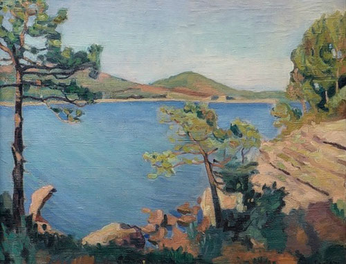 Charles Camoin.Orilla del mar en Agay.1905.Colección particular.