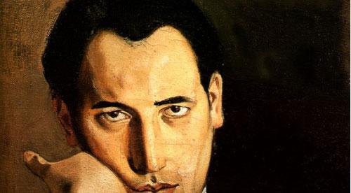 """Balthus, Retrato de Pierre Colle 1936.öleo sobre lienzo 55x46cm.Colección particular. El marchante Pierra Colle era amigo de los tres artistas.Todo un código de estructuras y pose, de puesta en escena, toda una """"biografía dramatizada"""" muy singular."""