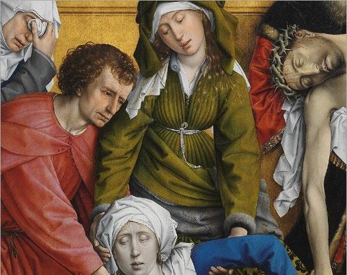 Imponente grupo escultórico policromado, cuyo paso procesional, fue ejecutado para ser contemplado.Sabiduría formal y cromática.Rasgos generales de la escuela flamenca.