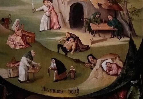 Los siete pecados capitales:  lujuria, pereza, gula, ira, envidia, avaricia y soberbia.