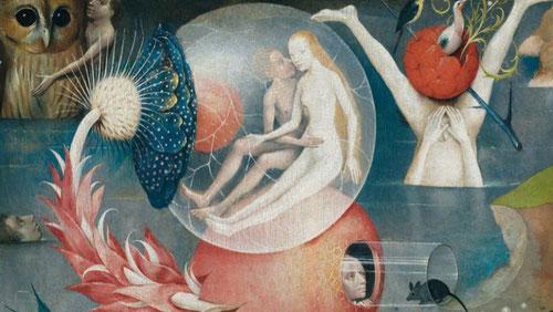 El pintor traza los contornos de algunas figuras,un dibujo esquemático realizado a pincel con un medio líquido,dibuja frutos,animales y centra la atención en la anatomía de las figuras.