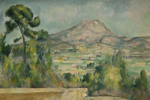 Paul Cézanne, convirtió en mito la montaña de Sain Victoire en una visión hedonista del Mediterráneo. Óleo sobre lienzo.65x92cm. Musée dÓrsay.