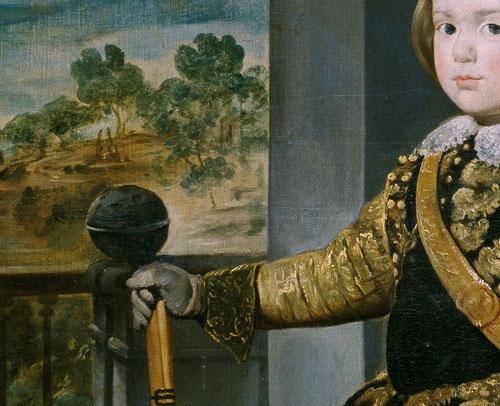 Detalle del príncipe Baltasar Carlos.1636.