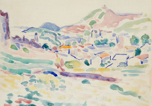 H.Matisse.Vista de Collioure,Village.1905.The Pierre and Tana Matisse Foundation,Collection,Nueva York.