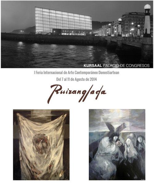 Una parte de la Obra del pintor Ruizanglada, que guardó para su colección particular, será exhibida del 7 al 11 de agosto de 2014 en el Palacio de Congresos Kursaal de Donosti (San Sebastián), en la 1ª Feria de Arte Contemporáneo Donostiartean.